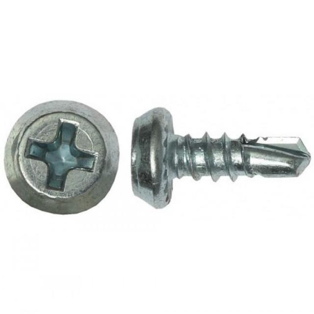 Саморез для крепления металлических профилей толщиной до 2мм. Со сверлом полуцилиндр