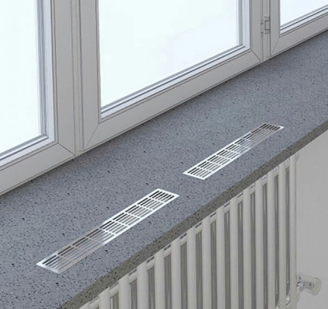Решетки вентиляционные для подоконника