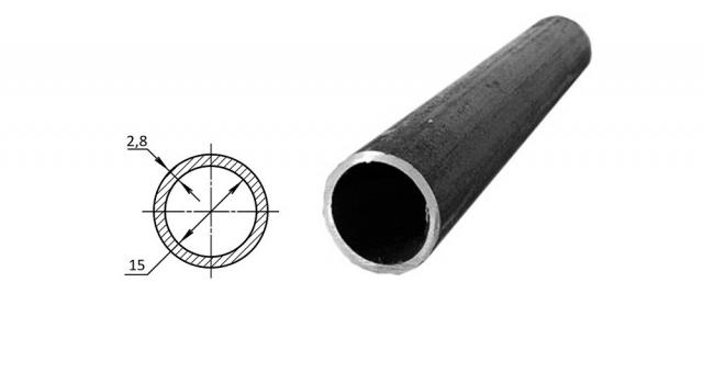 Труба водогазопроводная стальная D-внутренний 15 мм