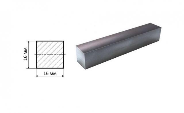 Квадрат стальной 16*16 мм
