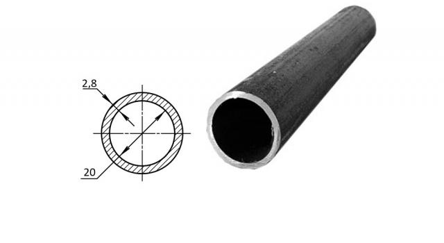 Труба водогазопроводная стальная D-внутренний 20 мм
