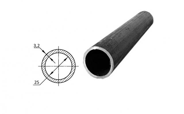 Труба водогазопроводная стальная D-внутренний 25 мм