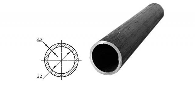 Труба водогазопроводная стальная D-внутренний 32 мм