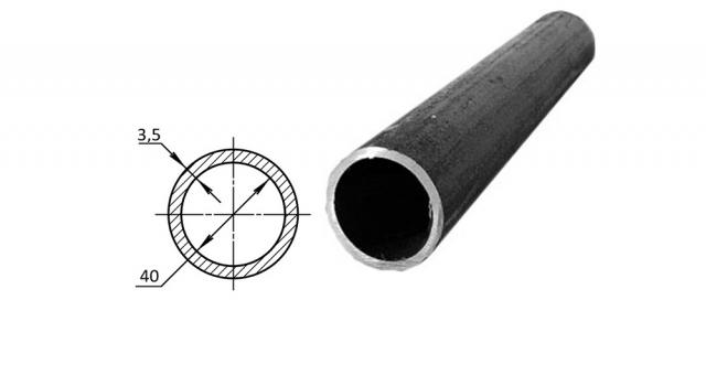 Труба водогазопроводная стальная D-внутренний 40 мм