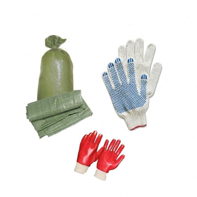 Мешки строительные, перчатки