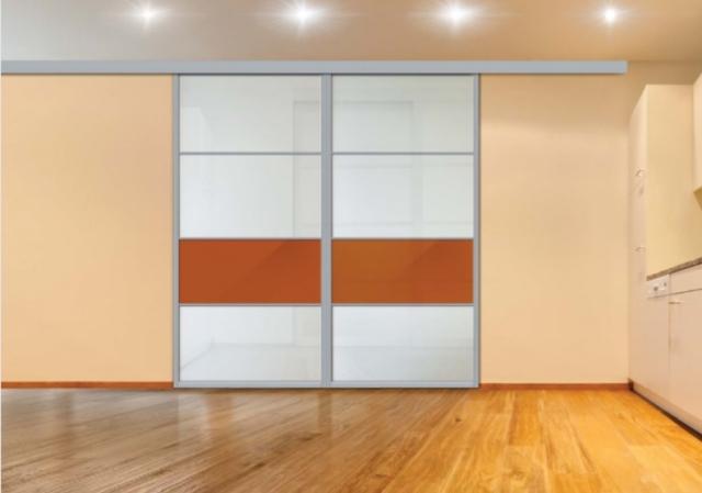 Алюминиевый профиль и комплектующие для изготовления подвесных межкомнатных дверей (РОСЛА – PS)