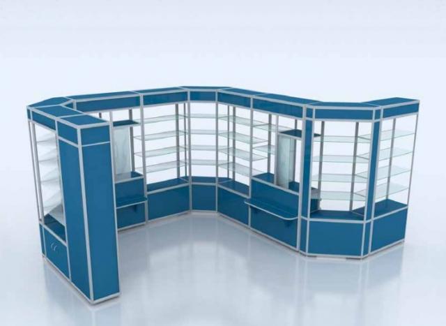 Алюминиевый профиль для изготовления торгово-выставочной мебели