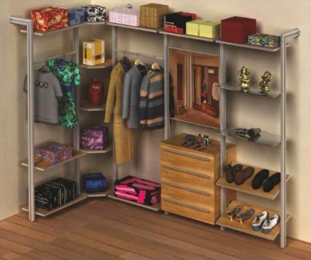 Алюминиевый профиль и комплектующие для изготовления гардеробных комнат и стеллажных систем (РОСЛА – US)