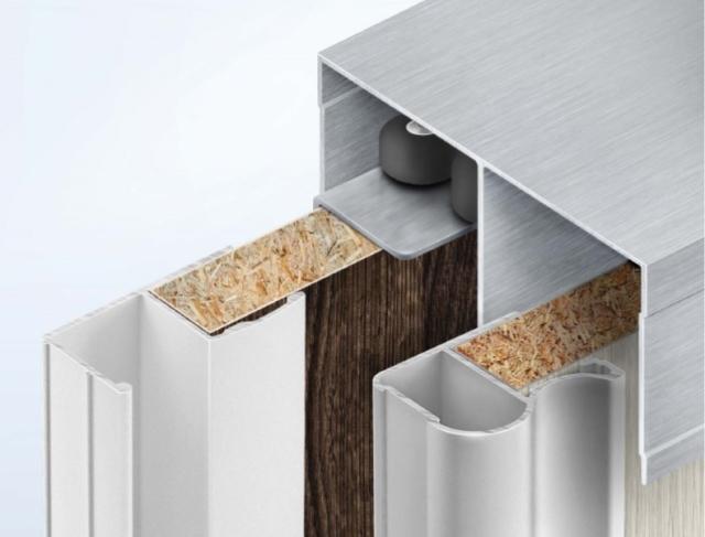 Алюминиевый профиль и комплектующие для изготовления шкафов купе (заполнение 16 мм) (РОСЛА – Sprint)