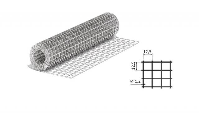 Сетка сварная из оцинкованной проволоки 12,5*12,5*1,2 мм