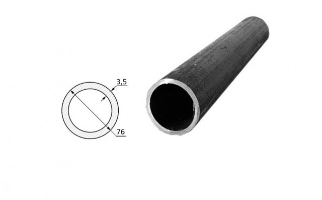 Труба электросварная стальная D-наружный 76 мм