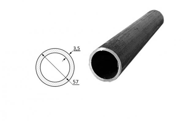 Труба электросварная стальная D-наружный 57 мм