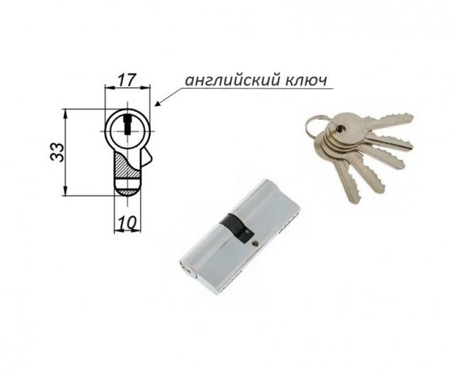 Механизмы цилиндровые с английским (плоским) ключом (ключ-ключ)