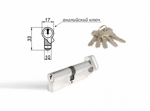 Механизмы цилиндровые с английским (плоским) ключом (ключ-вертушка)