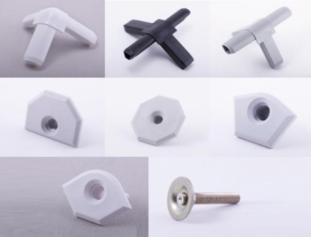"""Комплектующие системы """"Альфа-С"""" для изготовления торгово-выставочной мебели"""
