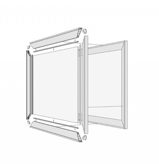 Калькулятор расчета в алюминиевом профиле  фасадов корпусной мебели, зеркал в рамке