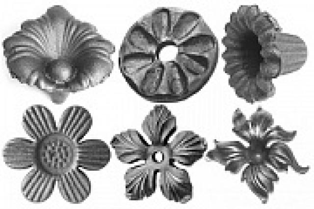 Цветы литые