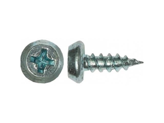 Саморез для крепления металлических профилей толщиной до 0,9мм. Острый полуцилиндр