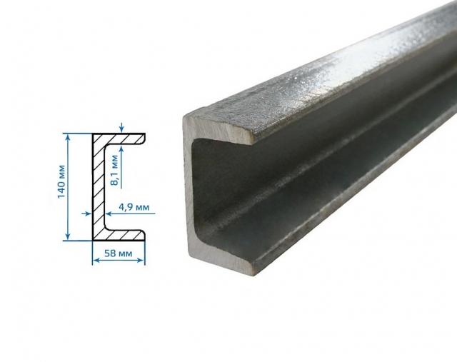 Швеллер 140 мм