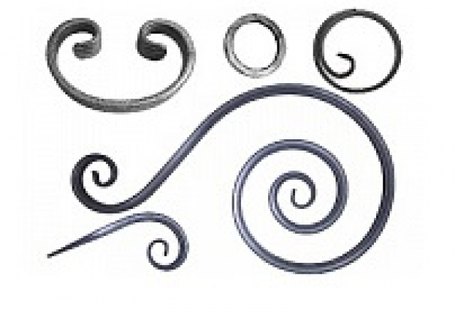 Завитки и кольцо из полосы 14 мм