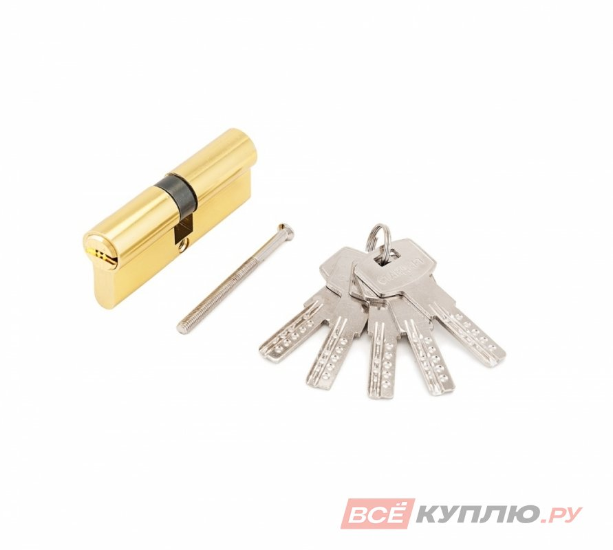 Механизм цилиндровый Стандарт F-01 75 (30х10х35) GP золото (11308)