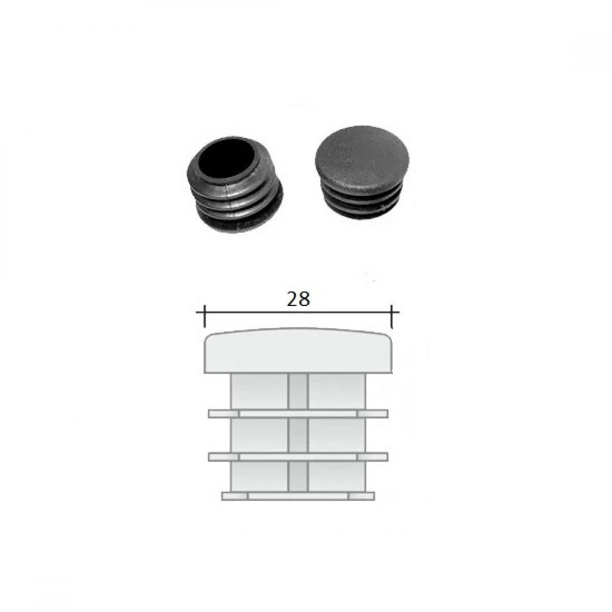 Заглушка ПВХ на круглую трубу внутренняя D=28 мм