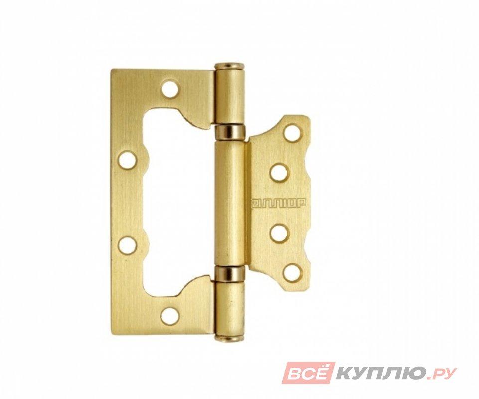 Петля дверная АЛЛЮР 100-2BB матовая латунь (7501)