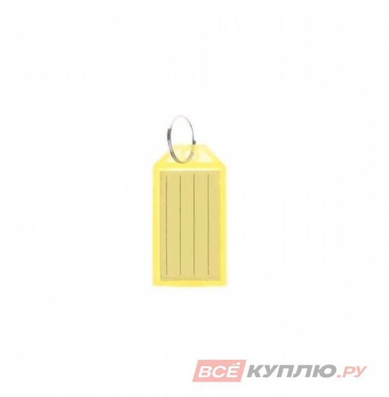 """Брелок """"Табличка"""" для ключей пластиковая желтый"""