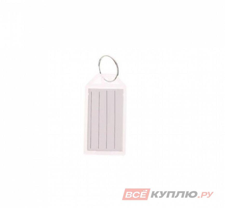 "Брелок ""Табличка"" для ключей пластиковая прозрачный"
