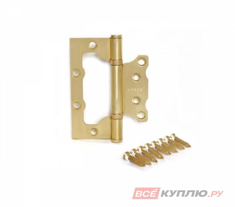 Петля дверная Апекс 100*75-В2 матовое золото