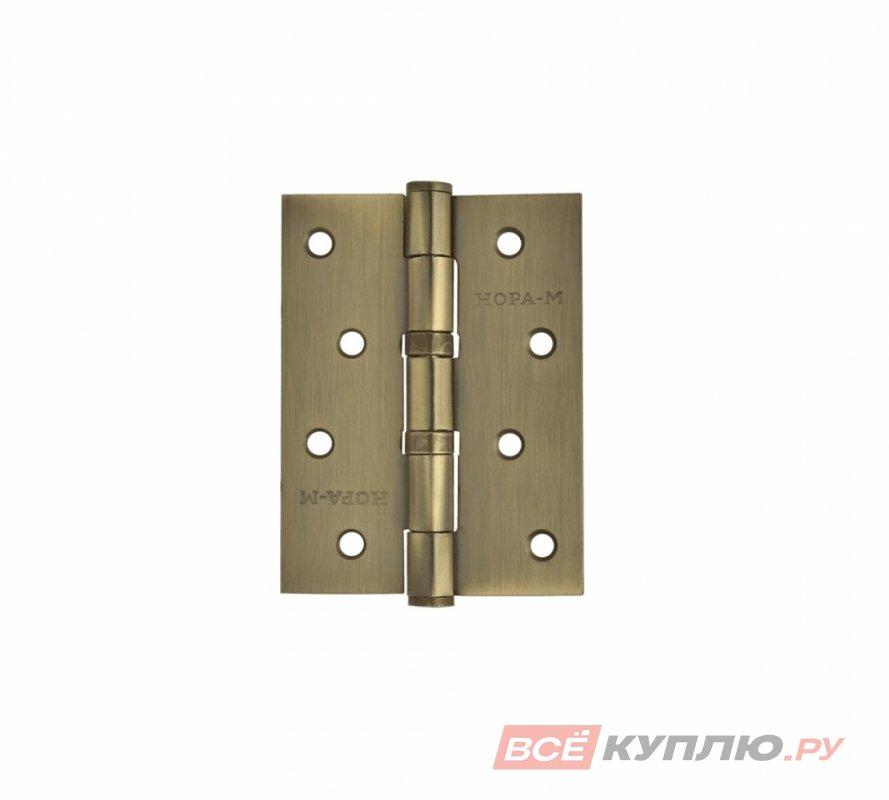 Петля дверная Нора-М 4-2ВВ FHP 100*75 бронза