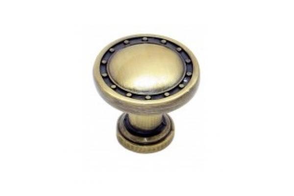 Ручка-кнопка мебельная бронза (RK-006 ВА)