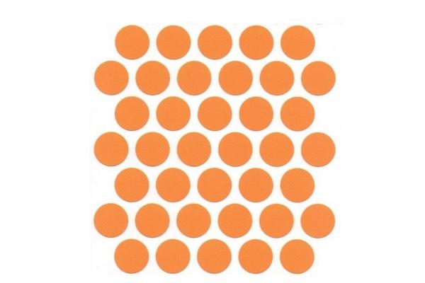 Заглушка самоклеющаяся на эксцентрик №26 Оранжевый 32 шт