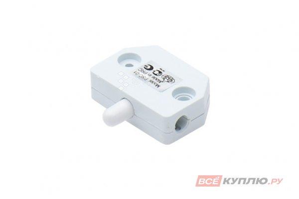 Выключатель мебельный для распашной двери PSC-01,250B, 3A, норм-замкнут, белый, 36х34х11мм (14777)