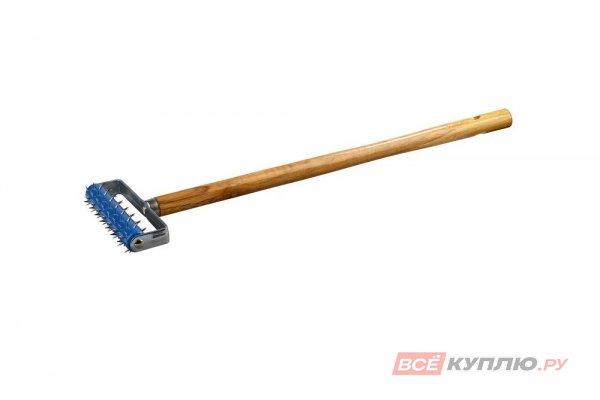 Валик игольчатый STAYER для гипсокартона в сборе, металлические иглы, ручка 500мм, 32х150 мм