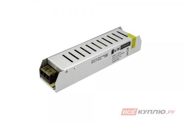 Блок питания для светодиодов 220/24V 100W, IP20, компактный (узкий) (14597)