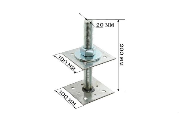 Анкер регулировочный по высоте ARH 20*100 мм