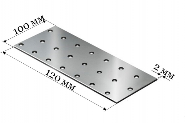 Пластина соединительная PS 100*120*2 мм