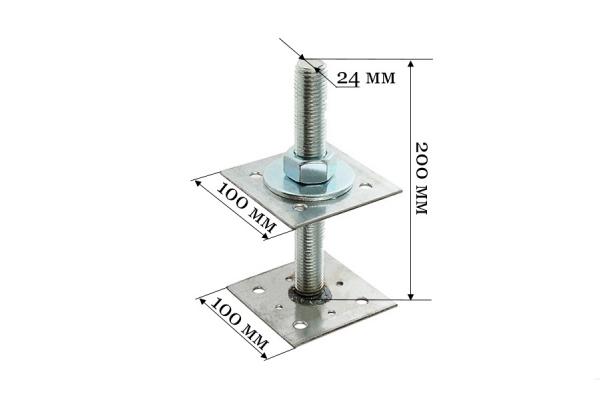 Анкер регулировочный по высоте ARH 24*100 мм