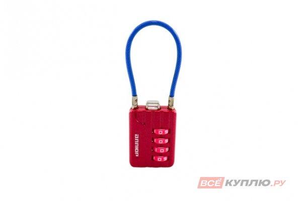 Замок навесной кодовый АЛЛЮР ВС1КТ-30/3 (H2) розовый с тросиком (10160)