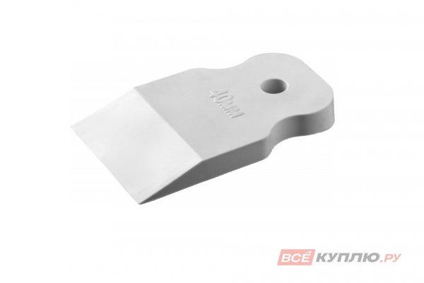 Шпатель резиновый белый STAYER MASTER 40 мм (1027-40)