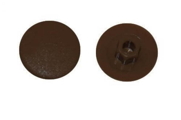 Заглушка на конфирмат №6 Темно-коричневая (50 шт)