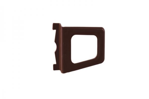 Ручка ПВХ под натяжной шнур, коричневая
