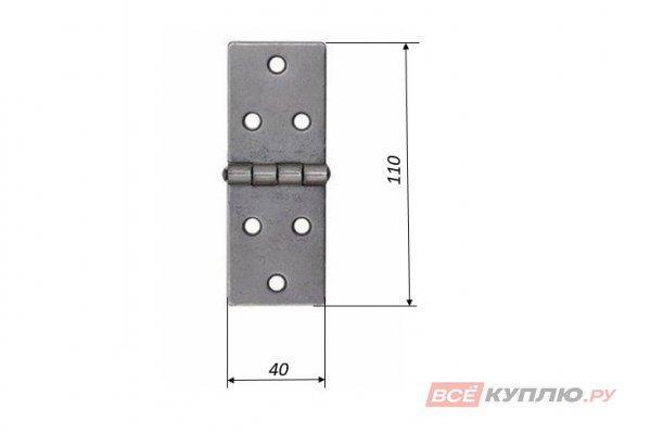 Петля Кунгур карточная 110x40 без покрытия (3236)