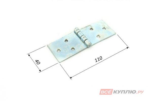 Петля Кунгур карточная 110x40 цинк (3237)