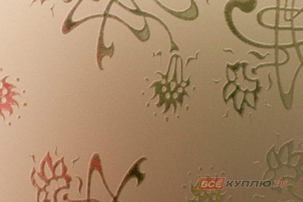 Стекло узорчатое матовое бронза Букет 2550*1605*4 мм (цена за лист)