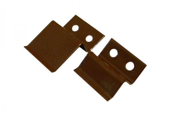 Крепление для м/с, верх/низ,коричневое, металл