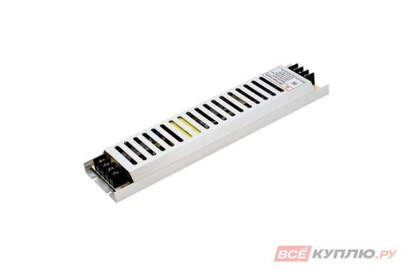Блок питания для светодиодов ультратонкий в металлическом корпусе 220/12V 150W, IP20 сетка (15017)