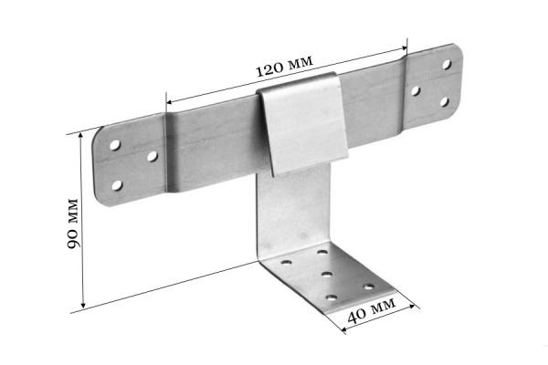 Опора скользящая для стропил KUCIS 120*90*40 мм