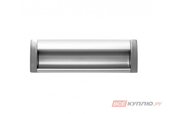 Ручка врезная мебельная алюминиевая UA-OO-326/128 алюминий